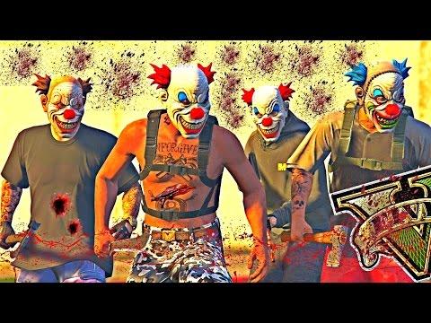 GTA V : VIDA DO CRIME - bonde dos PALHAÇOS solta TERROR na base dos SHUCRUTIS EP#25