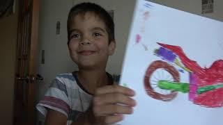 Андрей купил новый спортбайк и катается на игрушечном мотоцикле  Андрей и машинки