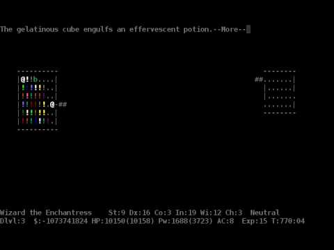 """NetHack """"fastest realtime"""" April 1st TAS 60fps by ais523, ChrisS67, and dwangoAC"""