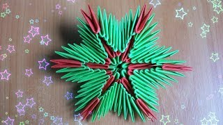 видео Модульное оригами: новогодние игрушки