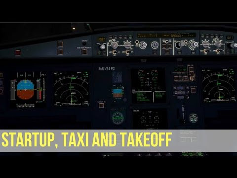 Full startup, taxi and takeoff procedures with checklists - Airbus A320 NEO   X-Plane 10