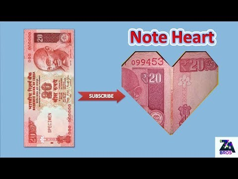 How to make Note Heart ♥ (origami)