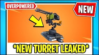 *ALL NEW* Fortnite Mounted Turret LEAKS!!! | UNLIMITED Ammo, Building Turret (Fortnite Update)