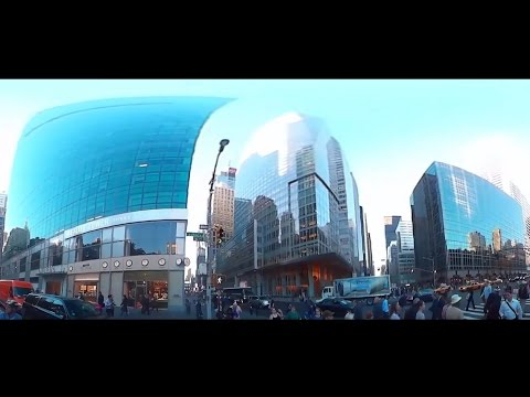 Bank of America and Metlife towers, Bryant Park, New York City, 360 view