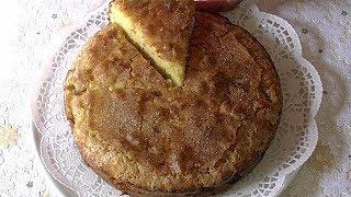 Яблочный пирог на кефире за 10 мин.+ время выпечки. Нежный , с хрустящей корочкой.