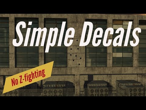 Simple Unity3D Decals with no ZFighting - YouTube