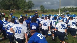 Pete Shinnick addresses team before first official UWF football practice
