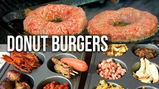 Stuffed Donut Burgers by the BBQ Pit Boys