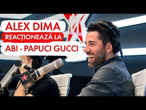 ALEX DIMA  reacţionează la ABI - PAPUCI GUCCI   (LIVE @ Virgin Radio Romania)