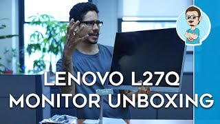 Lenovo L27q 27-inch LED Display Monitor Unboxing & First Impressions!