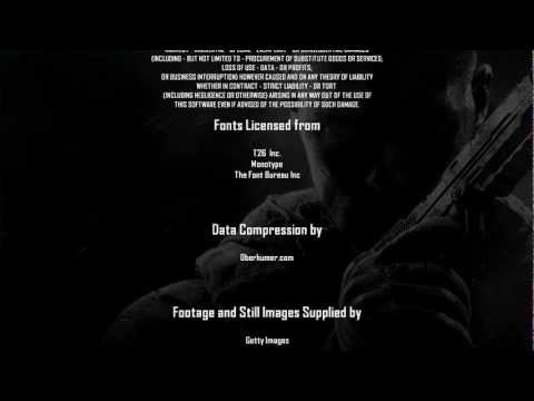 """Call of Duty: Black Ops 2"", game Credits + bonus cutscene"