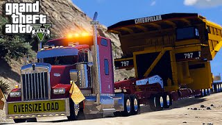 American Truck Simulator Multiplayer Mod in Grand Theft Auto V [Lowboy] [Heavy Haul] [Escort]