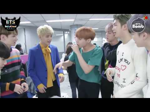 [ARABIC SUB - BANGTAN BOMB] BTS Checking Out The Interview Script After Camera Rehearsal @ Ingigayo