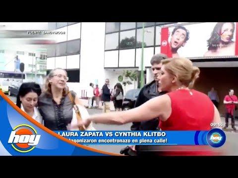¡Laura Zapata y Cynthia Klitbo protagonizan pleito en la calle! | Hoy