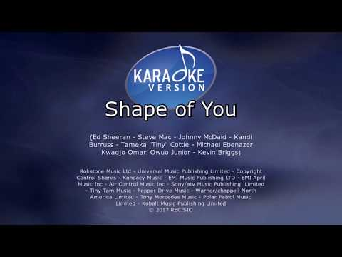 Ed Sheeran Shape of YouVideo Karaoke with a colored background 10156142