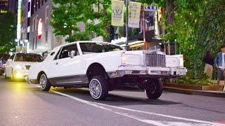 【渋谷】ローライダー カスタムカーが渋谷をパレードラン/Lowrider jacked Shibuya. US style custom car and more!