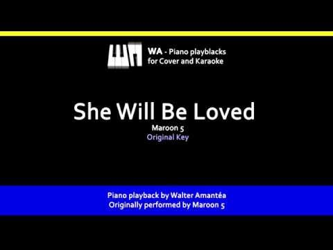 She Will Be Loved - Maroon 5 - Piano playback for Cover / Karaoke