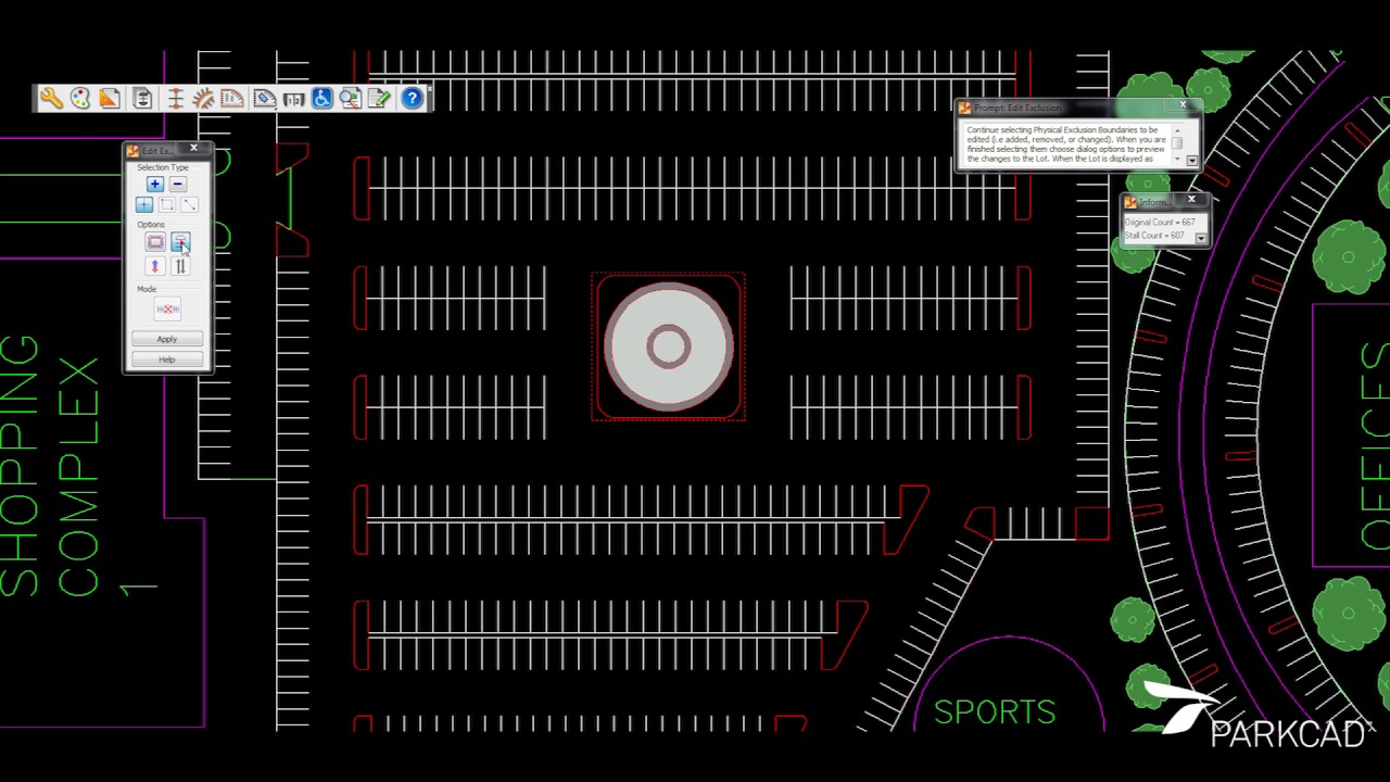 Parking Lot Design And Layout Software Parkcad Youtube