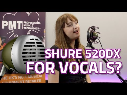Shure 520DX Green Bullet Microphone - How Does It Sound With Vocals?