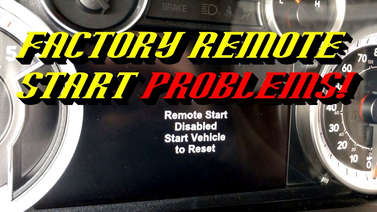 dodge charger remote start disabled