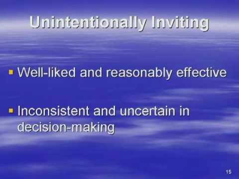 The 4 levels of functioning in invitational education ...