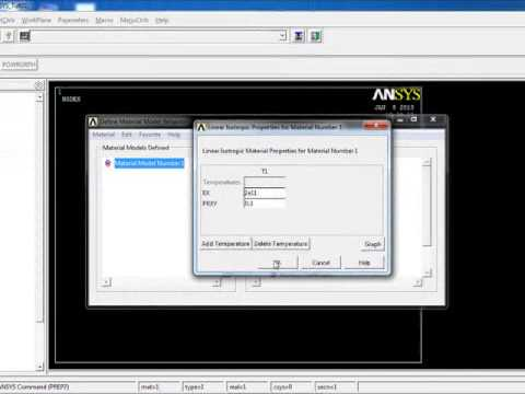 ANSYS - Lesson 01: Basics and a Simple Example