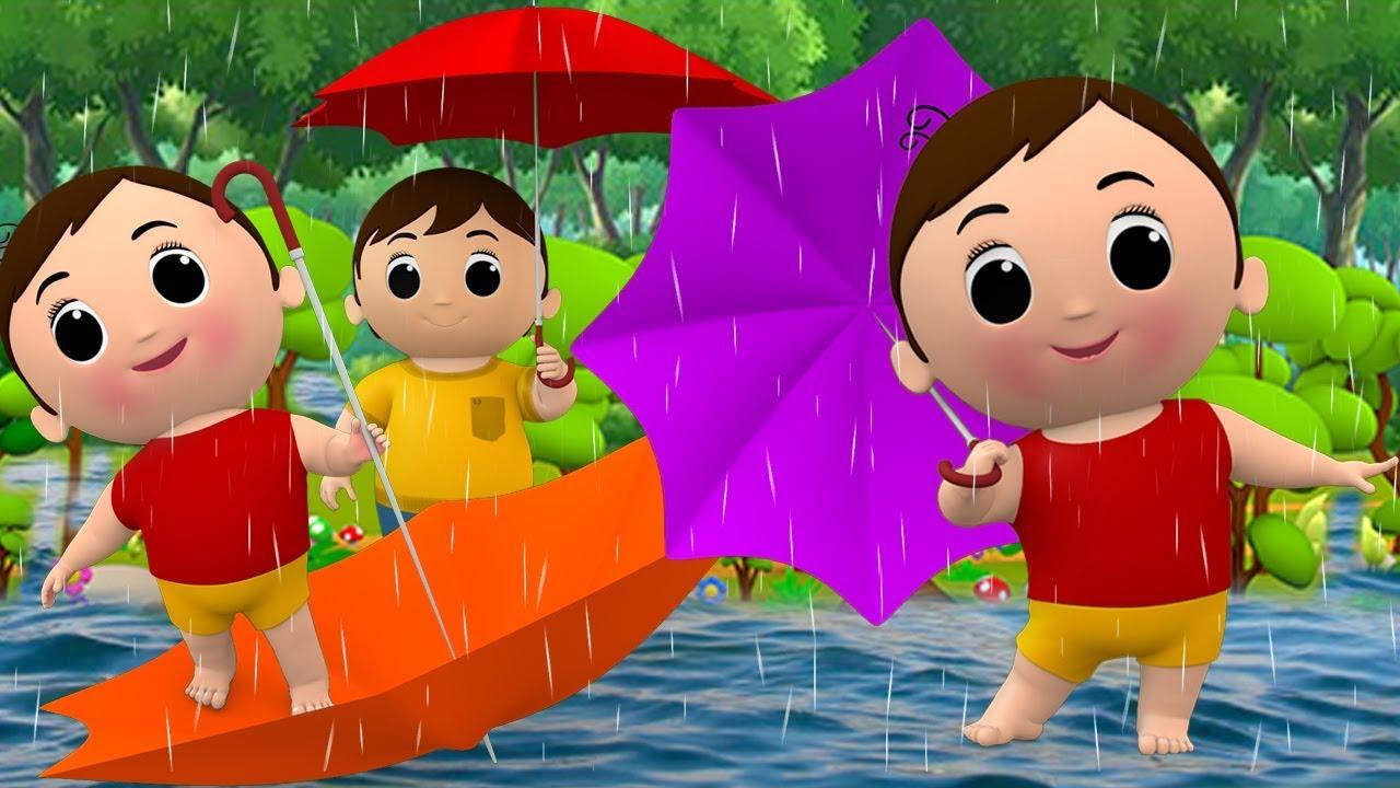 ब र श आई Barish Aayi Cham Hindi Rhymes Cartoon Nursery For Kids Jojo