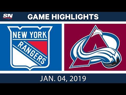 NHL Highlights | Rangers vs. Avalanche - Jan. 4, 2019