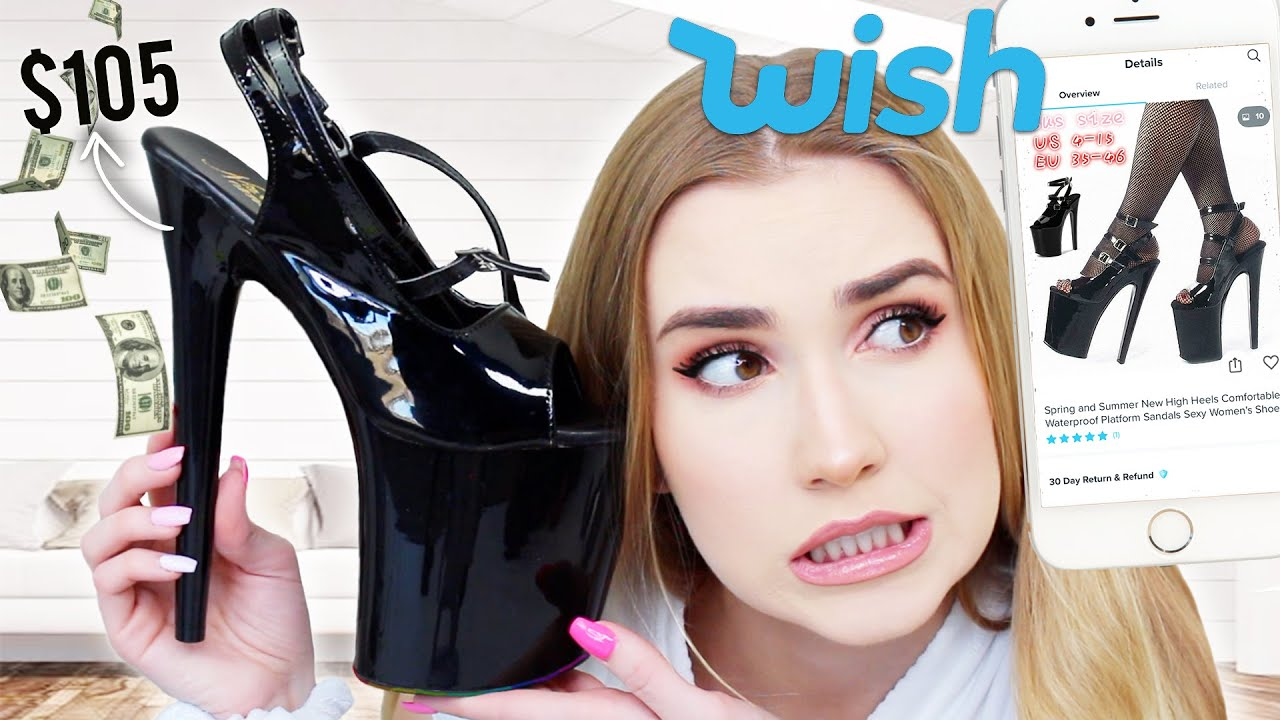Trying CRAZY High Heels From WISH !! pray for my ankles & my moms :O
