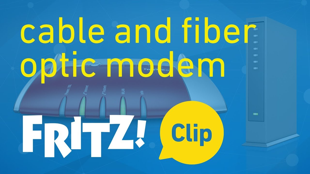 Fritz Clip Internet Connection Via Cable Or Fiber Optic