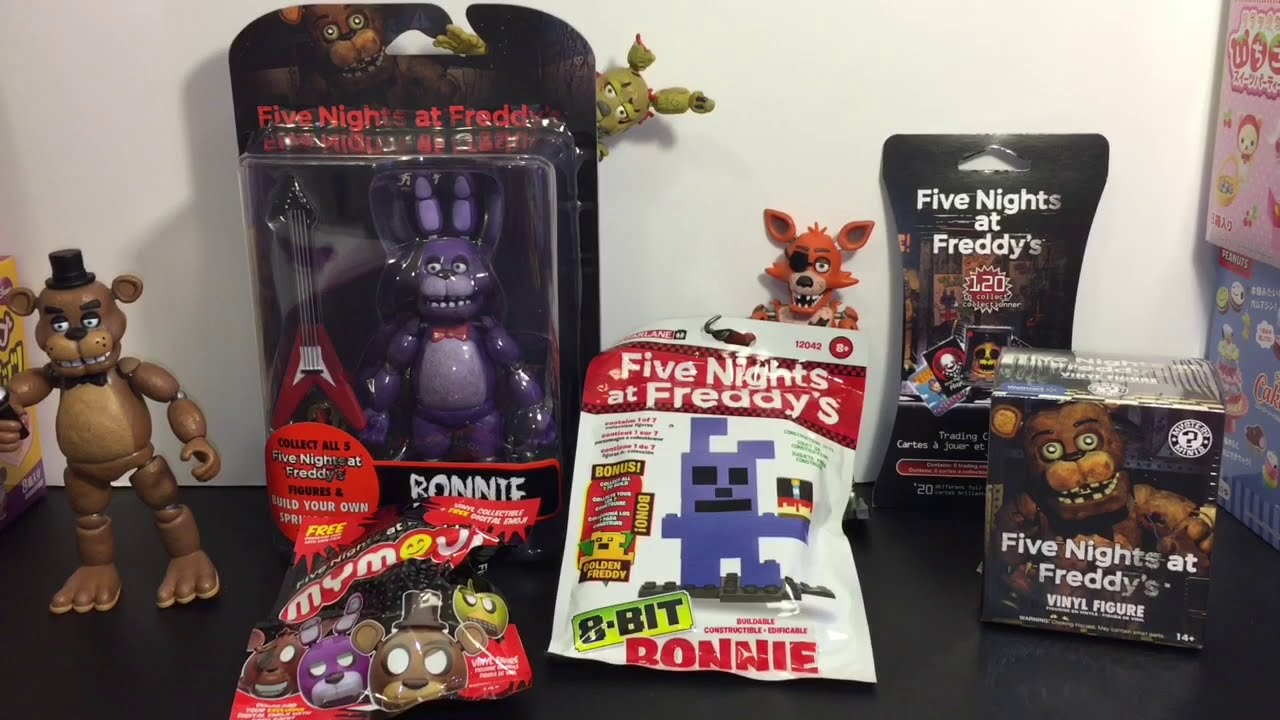 5 Nights At Freddys Toys For Sale - Five nights at freddy s bonnie funko action figure mystery mini 8 bit cards mymoji toys youtube