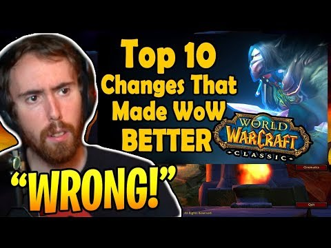 """Asmongold Reacts To """"Top 10 Changes Made After Vanilla WoW That Made the Game Better"""" By hirumaredx"""