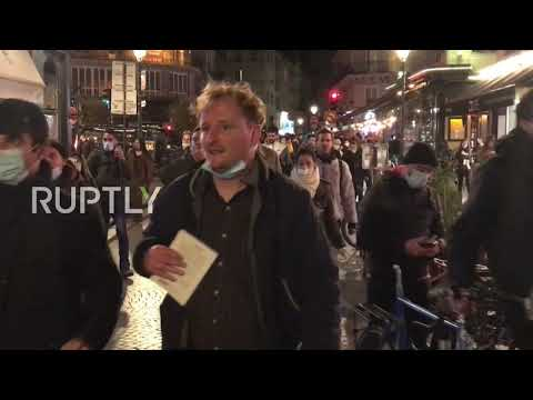 France: Locals march against anti-coronavirus curfew in Paris
