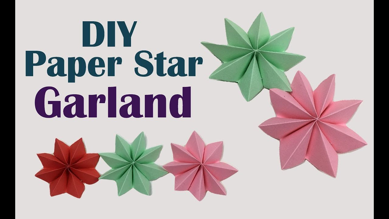How to Fold an Origami Star Paper Garland | Origami star paper ... | 720x1280