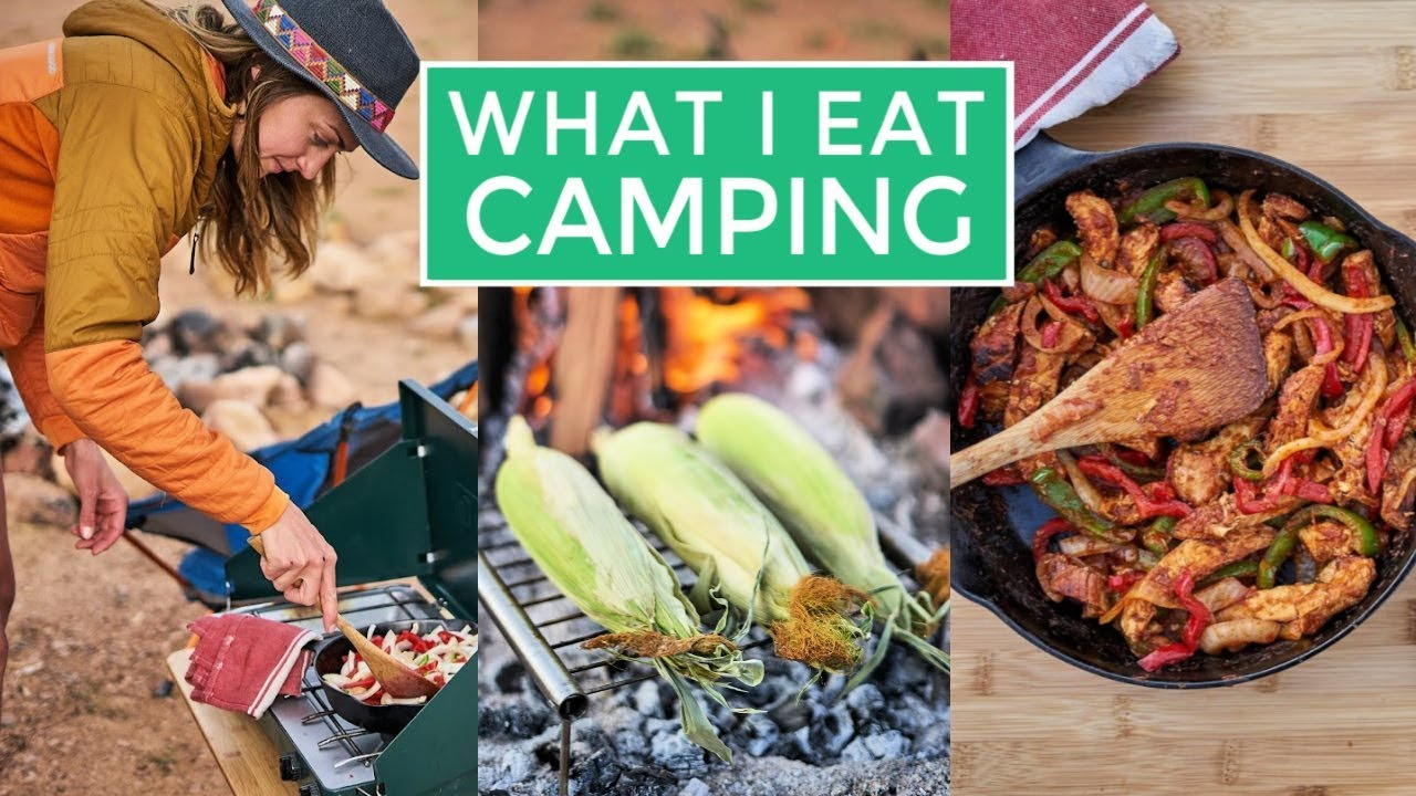 What I Eat In A Day Camping Easy Camping Food Ideas Youtube