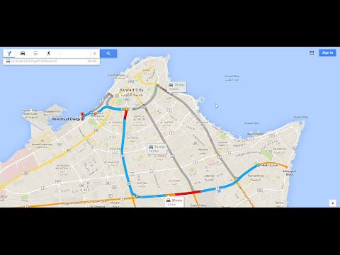 City Drive: Morning rush hour drive from Salmiya to Kuwait City