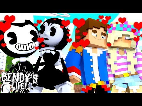 Minecraft BENDY'S LIFE-DONNY & ALICE ANGEL PLAN TO BREAK UP LEAH AND BENDY!!!!