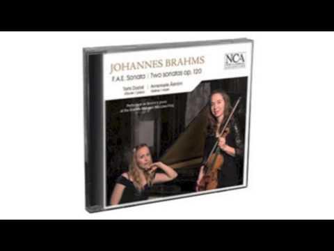 Brahms - F.A.E. Sonata & Two Sonatas Op. 120  NCA  CD  MB60257