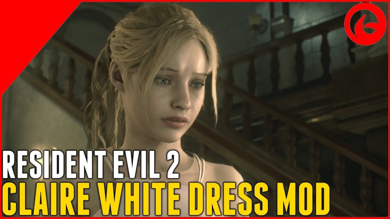 Claire Blonde White Dress Resident Evil 2 Mod Gameplay