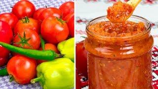 Готовлю несколько лет подряд! Томатный соус с перцем - любимая закуска нашей семьи! | Appetitno.TV