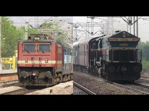 RARE SCENE in Indian Railways | 12403 Allahabad - Jaipur SF Express !!