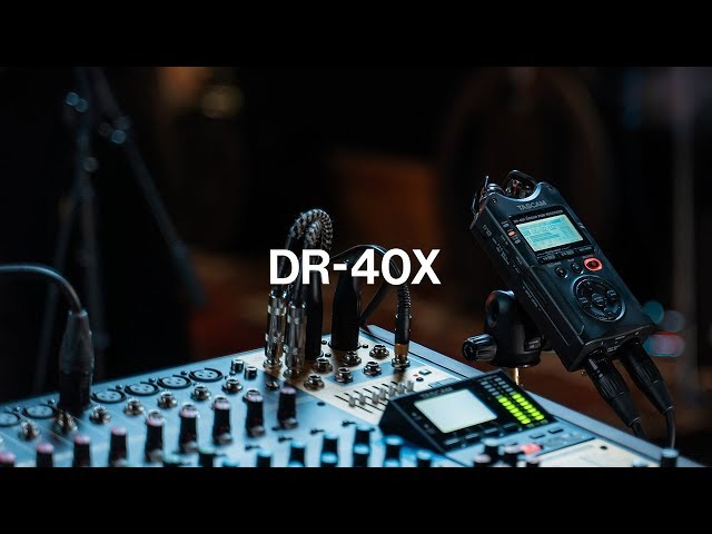 TASCAM DR-40X - Four Track Digital Audio Recorder and USB Audio Interface