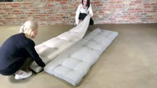 видео Бескаркасное кресло-кровать