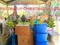 PUTTING UP CHRISTMAS LIGHTS(vlog#3)