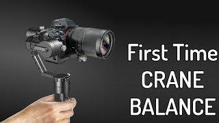 How to Setup & Balance Zhiyun Crane For the First Time - GIMBAL Balancing