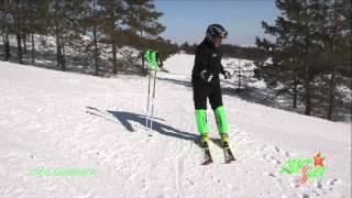 Обучение карвинговой горнолыжной технике, урок 1(Обучение основам карвинговой горнолыжной техники: резанному повороту, правильному положению корпуса., 2014-03-12T13:23:51.000Z)