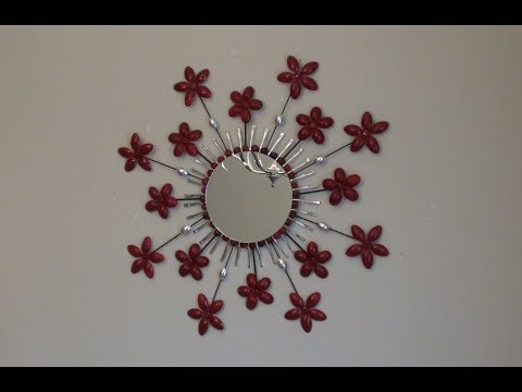 DIY: Starburst Flowers Round Mirror Wall Hanging Decor