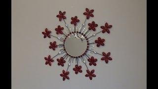 DIY: Starburst Flowers Round Mirror Wall Hanging Decor