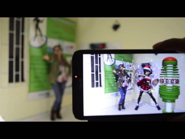 Interactivo Realidad Aumentada Personajes Navidad Claro