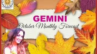 GEMINI OCTOBER FORECAST 2015-Pleasure and romance will stimulate you this month!